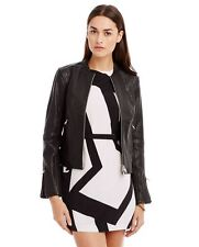 A|X ARMANI EXCHANGE tumbled leather MOTO BIKER jacket BLACK XL NWT