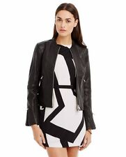 NWT A|X ARMANI EXCHANGE tumbled leather moto jacket BLACK XL
