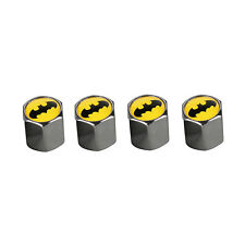 4 Pcs Car Wheel Tire Valve Stem Air Dust Batman Anti Theft Locking Caps Cover qh