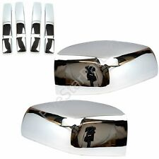 Chrome Set Door Handles & Half Mirrors Covers for Land Rover Freelander 2 06-09