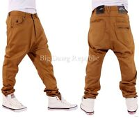 NAPPY BOY MENS DROP CROTCH HAMMER FIT SANTIAGO STYLE STAR CHINOS TIME MONEY IS M