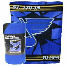 "NHL St. Louis Blues 50"" x 60"" Fleece Throw Blanket 100% Warm & Comfy"