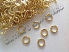 100 x EXTRA THICK and STRONG Gold Plated Open Jump Rings 8mm - Jewellery Finding