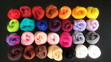 Shep's 28 Color Merino Wool Felting Kit  Multiple Colors Sampler Needle/Wet Felt