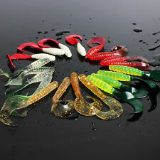 6.5cm/2.55in Soft Plastic Fishing Lures Rubber Saltwater Freshwater Lures 100pcs