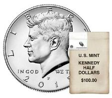2015 P&D Kennedy Halfs from $100 mint bag, one coin of each (7754)
