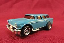 Aurora AFX HO Scale Magna-Traction Medium Blue '57 Chevy Nomad Works