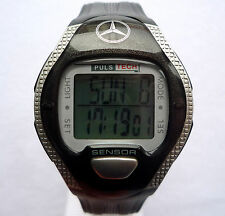 Mercedes Benz EKG Digital Heart Rate Pacer Monitor Fitness Chronograph Watch