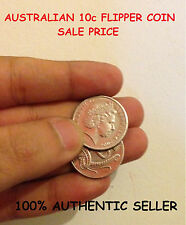MAGIC FLIPPER COIN AUSTRALIAN 10 CENT / MADE WITH EXPANDED SHELL -AUD COIN MAGIC