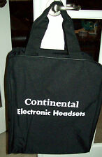 CONTINENTAL AIRLINES ELECTRONIC HEADSET BAG