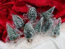 "DEPT 56  NEW VILLAGE ACCESSORIES ""FROSTED TOPIARY TREES""!! SET OF 8!! #5202-7"