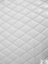 """VINYL QUILTED FABRIC 1/2"""" FOAM UPHOLSTERY BACKING - Shiny White - 52""""/56""""  WIDTH"""