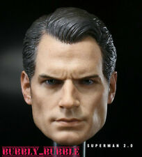 1/6 Henry Cavill Head Sculpt Superman Clark Kent For Hot Toys Body SHIP FROM USA