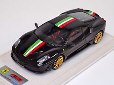 1/18 Looksmart MR Ferrari F430 Scuderia Nero DS Italian Stripe Gold Wheel Alcant