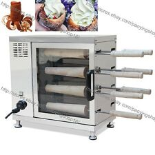 Commercial Electric Hungarian Kurtos Kalacs Chimney Horn Cake Oven Roll Machine