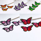 3 DIY Vivid Butterfly Embroidered Patch Applique Badge Iron-on/Sew On Gift EW