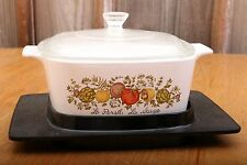 Corning Ware Spice of Life Le Persil La Sauge 1.5 QT Casserole Dish With Trivet