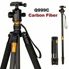 QZSD Q999C Carbon Fiber Tripod Monopod + Ball Head for DSLR Camera Camcorder