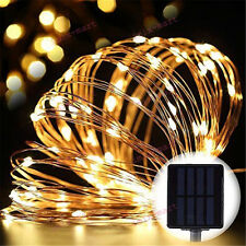 5M 50leds Solar Powered Outdoor Copper Wire Material String Lamp LED Fairy Light
