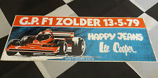 BELGIAN GP ZOLDER 1979 F1 ORIGINAL PERIOD LARGE RACE STICKER ADESIVO AUFKLEBER