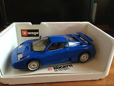Burago Diamonds 1/18 Scale Bugatti EB110 (1991) - cod.3035 - Blue