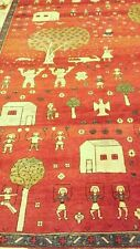 Azarbayjan Rare Whimsical Hand Knotted Virgin Wool Vegetable Dyes Area Rug