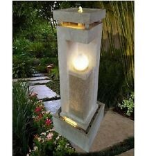 ETERNAL LIGHT Cascading LED WATER FOUNTAIN Garden Patio Deck Water Feature
