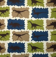 "PREMIER PRINTS DINOSAUR REX BLUE T-REX FURNITURE FABRIC BY THE YARD 54""W"