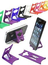 iPhone 3G 3GS 4G 4S 5 6 Holder PURPLE Folding Travel iClip Desk Stand Rest: