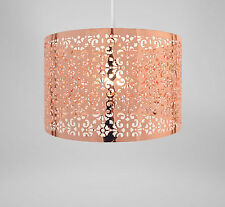 Rose Gold Metal Lampshade Lightshade Marrakech Design - NEW