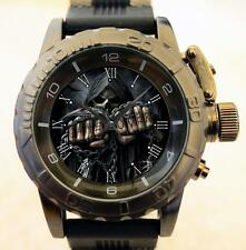 Gothic Skull Fist Military Style Commando Gt Army Series Chunky Watch