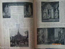 Strange Temple Guardian Demons China Siam Buddha Old Antique Photo Article 1899