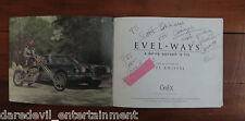 Evel Knievel's PERSONAL copy of own book, Evel Ways. Includes his 2nd Ed. edits!