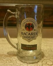 Bacardi Oakheart Heavy Glass Beer Mug Stein Made in USA 16 oz Smooth Spiced Rum