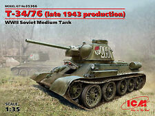 T-34/76 LATE 1943 PRODUCTION (SOVIET RED ARMY MKGS) 1/35 ICM BRAND NEW