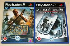 2 PLAYSTATION 2 ps2 giochi Set Medal of Honor-Rising Sun & European Assault