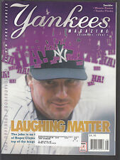 Roger Clemens 2001 New York Yankees Magazine with Mike Mussina pullout poster