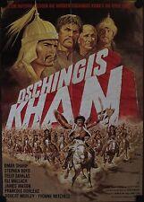 Dschingis Khan Genghis Khan Filmposter A1 Omar Sharif, Dorléac, Boyd Klaus Dill