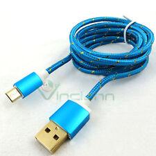 Cavo dati connettori METALLO CNM2 azzurro per Wind Smart 5.0'' micro USB