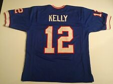 Buffalo Bills Jim Kelly UNSIGNED CUSTOM Blue Jersey - XL