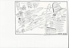 B-26 Model Airplane Plans 1/2 A Martin Marauder Profile C/L