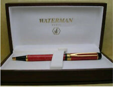 WATERMAN PATRICIAN  MAN 100  CARDINAL RED BALLPOINT PEN NEW IN WOODEN  BOX