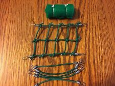 (New Item) GREEN 1/10 Scale Roof Net + 6 Bungee Cords +Sleeping Bag RC Trail