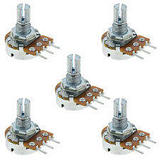5 x 10K Linear Lin Splined Potentiometer Pot