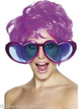 Mens Womens Jumbo Heart Shaped Huge Glasses Shades 70's Fancy Dress Pop Star Fun