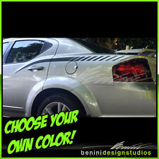 2008 2009 2010 2011 2012 2014 Dodge Avenger Side Spears Decal Graphics Stripes 2