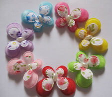 35 Baby Padded Felt Butterfly W/White Pearl Appliques