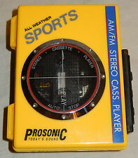 PROSONIC ALL WEATHER SPORTS WALKMAN STEREO CASSETTE PLAYER PC-4064 TESTED WORKS