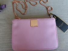 BNWT Ted Baker Dusky Pink Alisa Small Zip Top Cross Body Bag