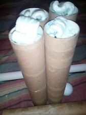 4 sturdy cardboard tubes filled with packing peanuts! Free shipping!